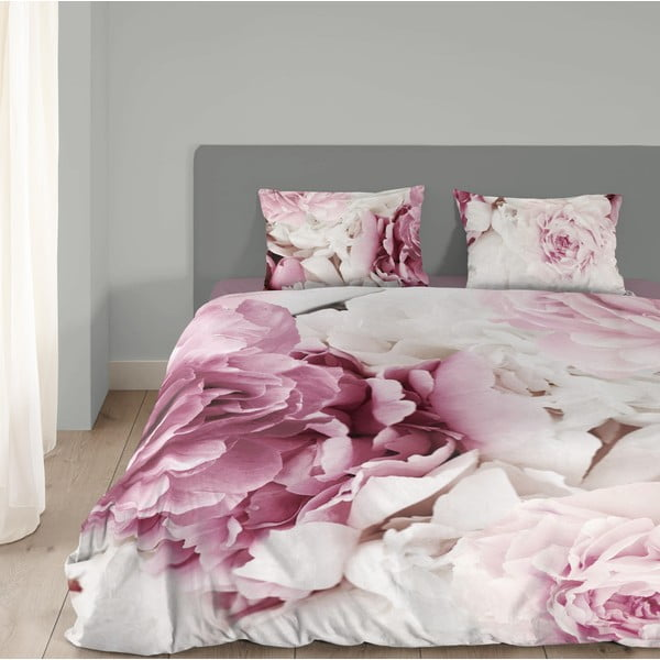 Bavlnené obliečky Muller Textiel Peonies, 135 x 200 cm