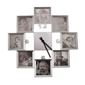 Hodiny s 8 rámčekmi na fotografiu Incidence Basics, ⌀ 40 cm
