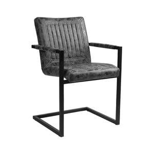 Tmavo-sivá jedálenská stolička LABEL51 Rossi