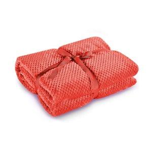 Červená deka z mikrovlákna DecoKing Henry, 150 x 200 cm