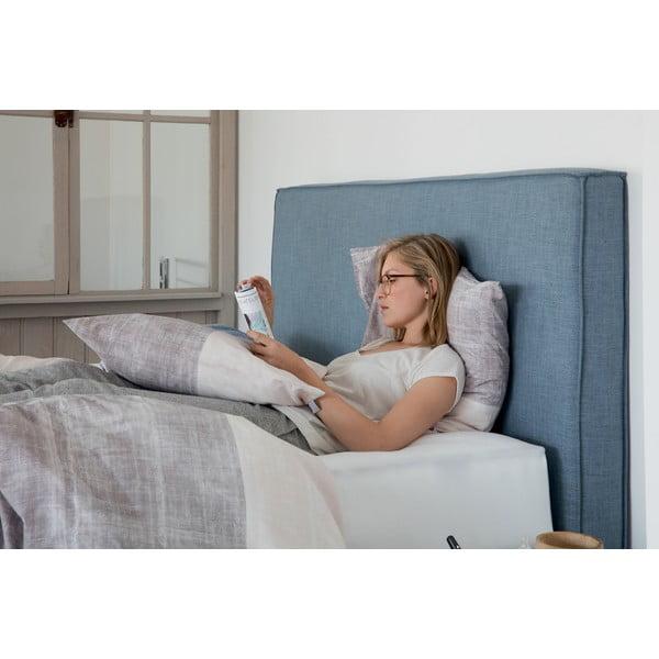 Modrá boxspring posteľ Revor Milano, 180×200cm
