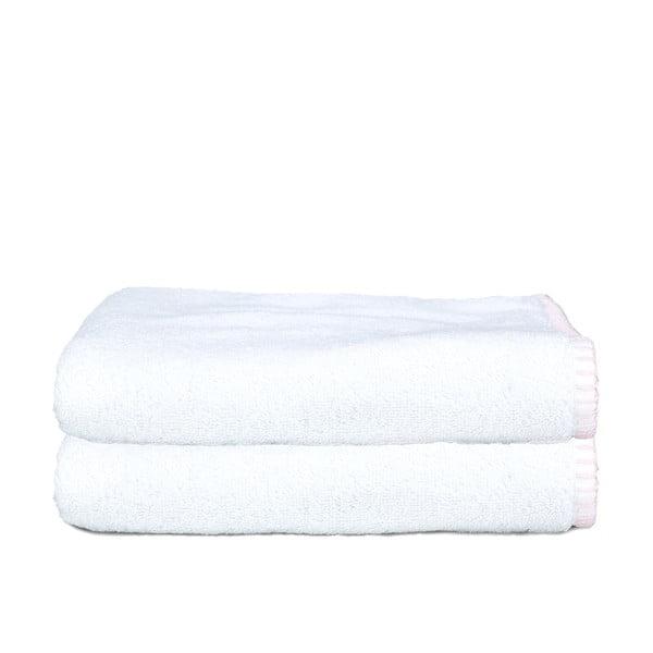 Sada 2 osušiek Whyte 100x150 cm, biela/ružová