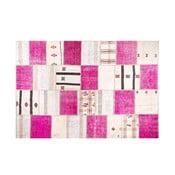 Vlnený koberec Allmode Kilim Pink, 200x140 cm