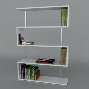 Knižnica Sunrise Book White, 22x90x129 cm