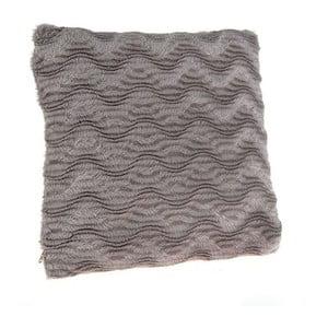 Vankúš z umelej kožušiny Grey, 40x40 cm
