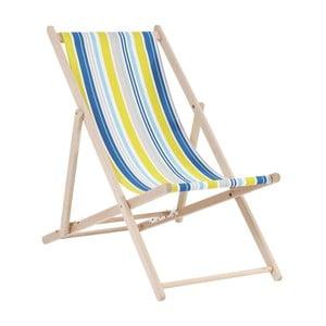 Modré pruhované ležadlo Kare Design Summer
