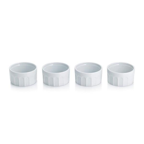 Sada 4 porcelánových misiek na Crème brullée Maleen, 9 cm