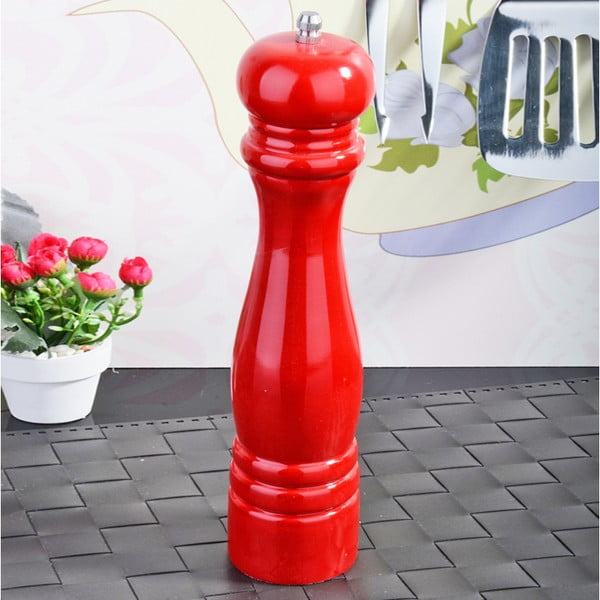 Červený bambusový mlynček na korenie Luxury
