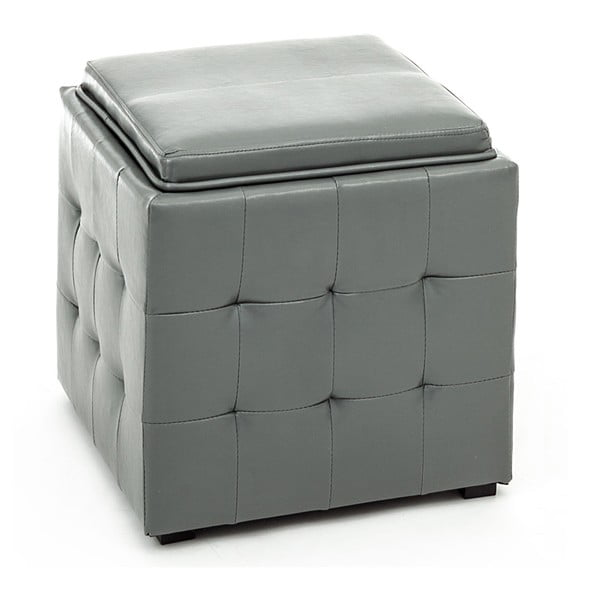 Sivý puf s úložným priestorom Tomasucci Case