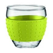 Sada 2 pohárov Pavina Small, zelený pásik