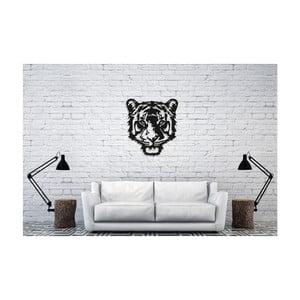 Čierna nástenná dekorácia Oyo Concept Tiger, 50×45 cm