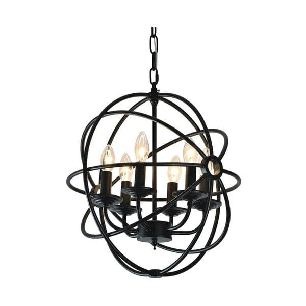 Závesné svetlo Cage 28 cm, čierne