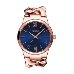 Dámské hodinky Elegante Rose Gold/Royal Blue, 38 mm