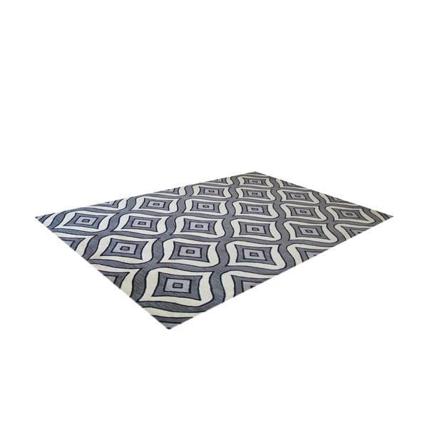 Ručne tuftovaný sivý koberec Bakero Greco, 122 x 183 cm