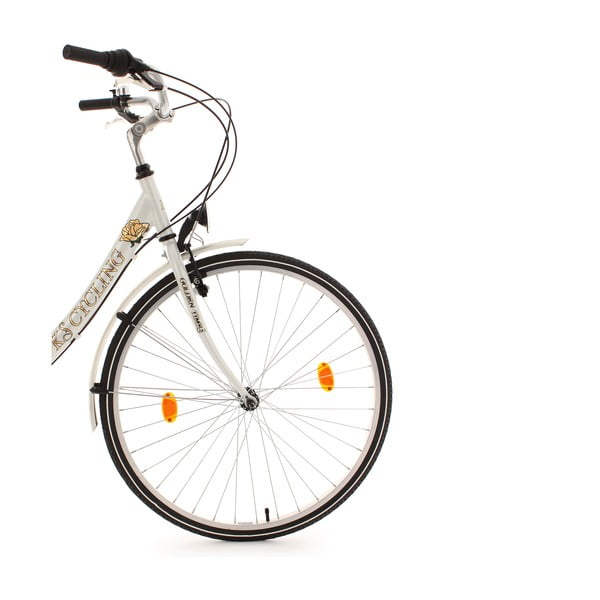 Dámsky bicykel City Bike Golden Times White, 28""