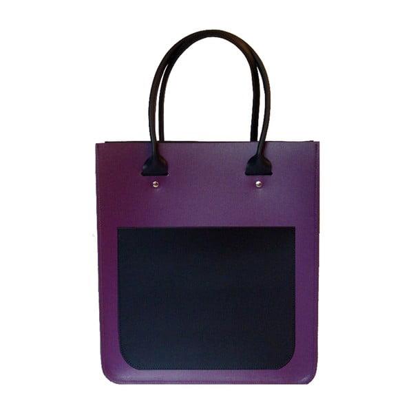 Kožená kabelka Two Tone Purple/Navy