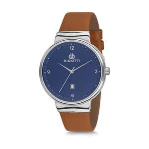 Pánske hodinky s hnedým koženým remienkom Bigotti Milano Greece
