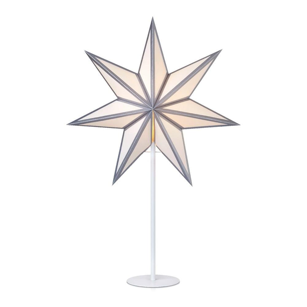 Sveteľná dekorácia v striebornej farbe Markslöjd Adele, výška 65 cm
