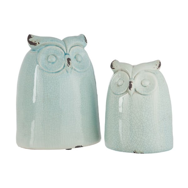 Dekorácia Azure Owl, 28 cm