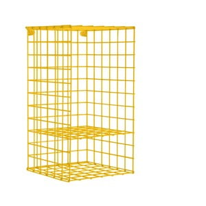 Žltá nástenná kovová polica Really Nice Things Vertical, 30×60 cm