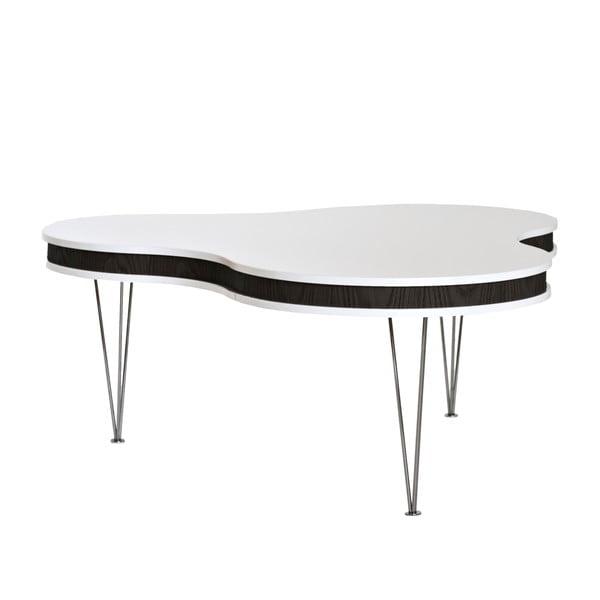Čierno-biely konferenčný stolík RGE Hugo Clover