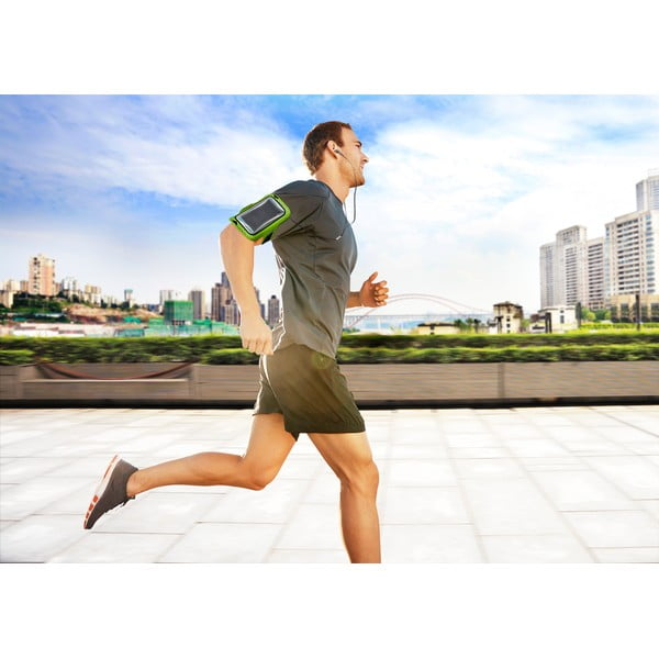 Športové neoprénové puzdro Armband Running, limetkové