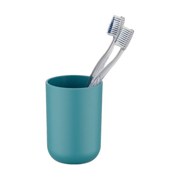 Petrolejovomodrý pohárik na zubné kefky Wenko Brasil Petrol