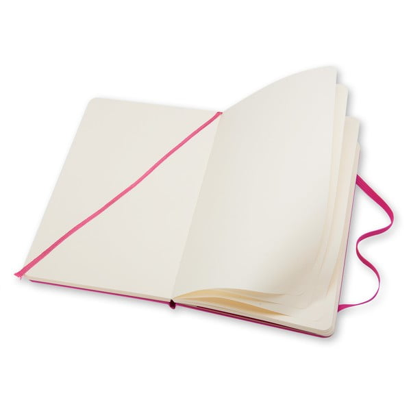 Zápisník Moleskine Hard 13x21 cm, ružový + čisté stránky