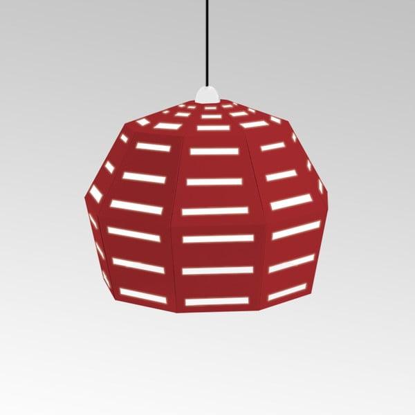 Kartónové svietidlo Uno Fantasia D Red, s čiernym káblom