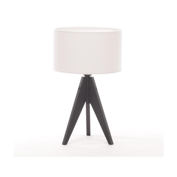 Stolná lampa Artista Black Birch/White Felt, 28 cm