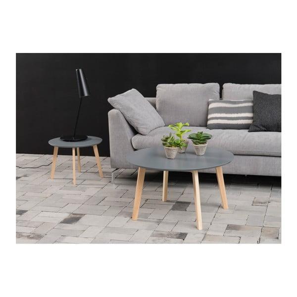 Sivý konferenčný stolík Actona Molina, ⌀ 80 cm