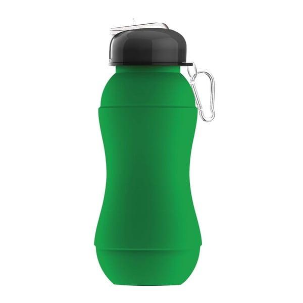 Revolučný športová fľaša Sili-Squeeze, zelená, 700 ml
