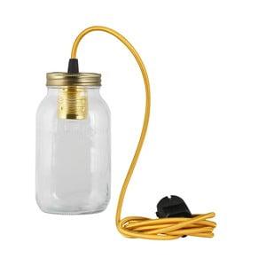 Svietidlo JamJar Lights, zlatý okrúhly kábel