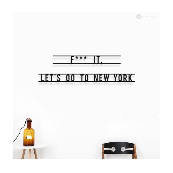 Nástenná drevená dekorácia Let's Go To New York