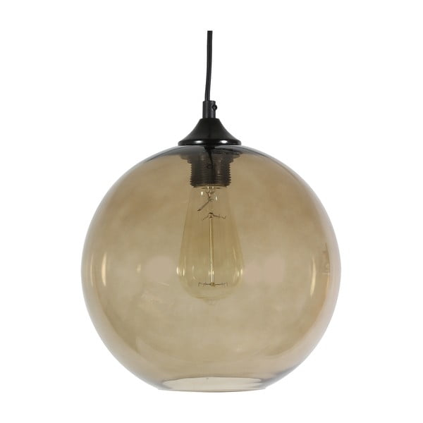 Závesné svetlo Edison, béžové