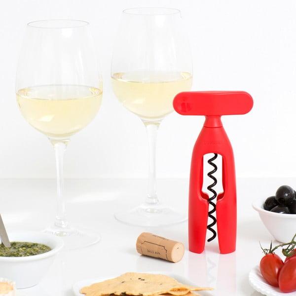 Červená vývrtka na víno Brabantia Gen