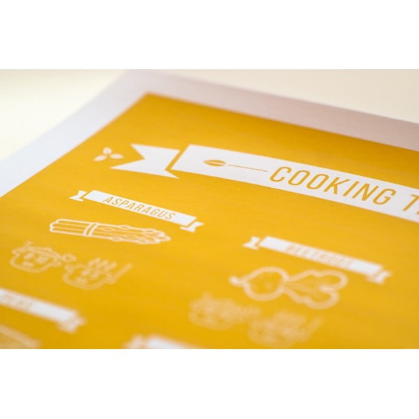 Farebný plagát Follygraph Cooking Times, 21x30cm