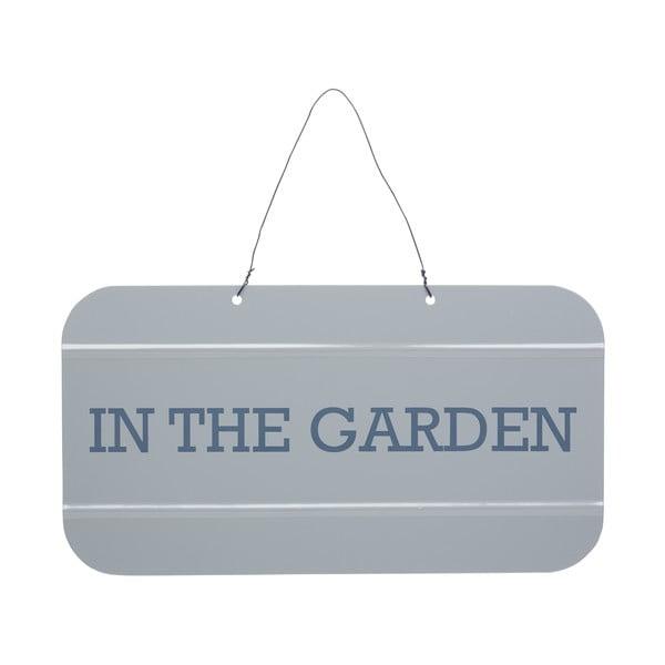 Sivá ceduľka Kitchen Craft Jsem v zahradě