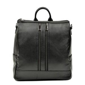 Čierny kožený batoh Luisa Vannino Tara