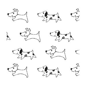 Tapeta do detskej izby Art For Kids Happy Dogs, 48 × 1000 cm