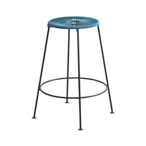 Modrá barová stolička OK Design Acapulco, výška 66 cm