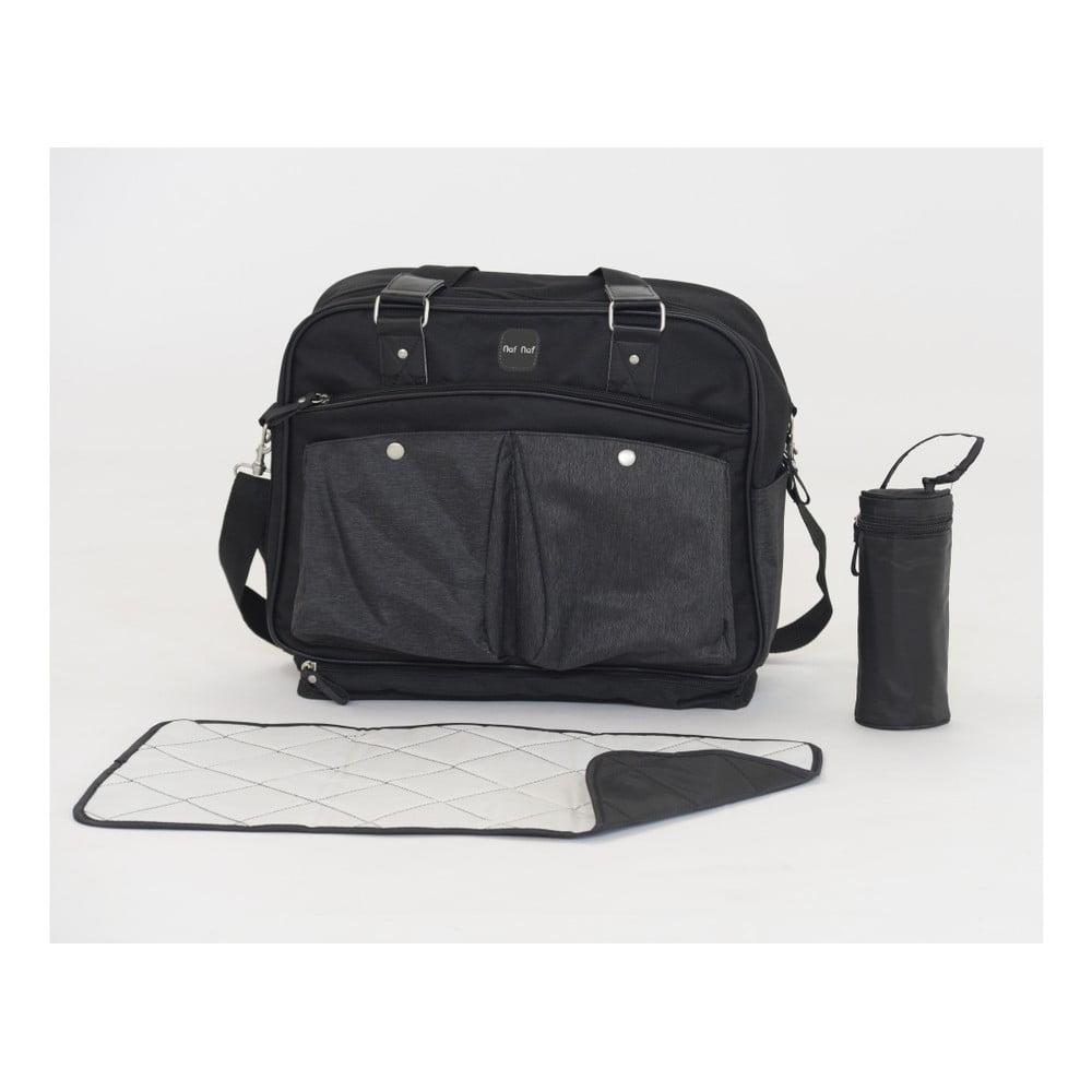 Set tašky cez rameno, prebaľovacej podložky a obalu na fľašku Tanuki Mummi Bag Duro