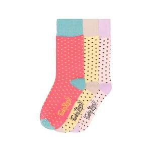 Sada 3 párov farebných ponožiek Funky Steps Hawaii, veľ. 35-39