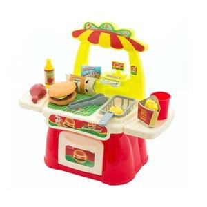 Detský hrací stánok s občerstvením InnovaGoods Fast Food Game