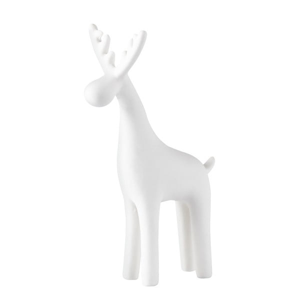 Dekoratívna soška KJ Collection Reindeer Ceramic White Snow