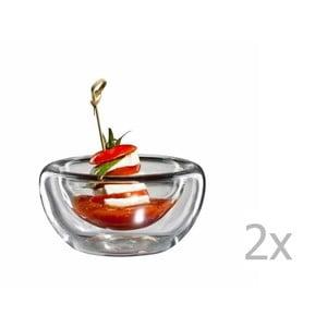 Sada 2 stredných sklenených mištičiek bloomix