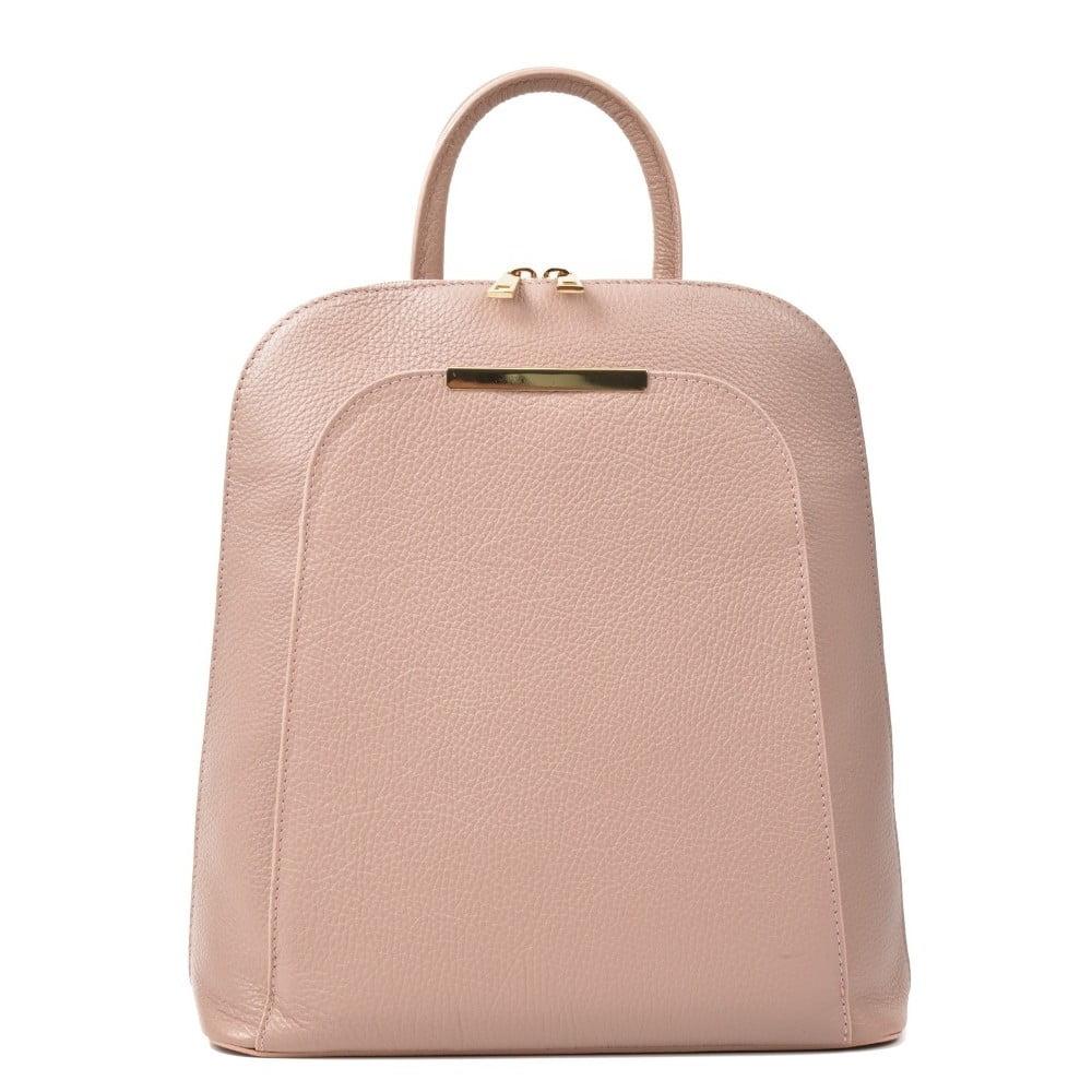 Ružový kožený batoh Renata Corsi Sallio