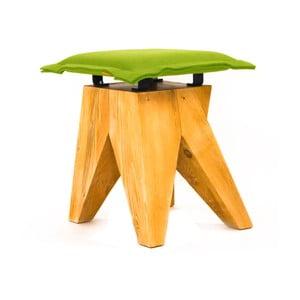 Drevená stolička Low, zelená