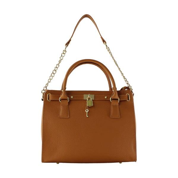 Kožená kabelka Sari, hnedá