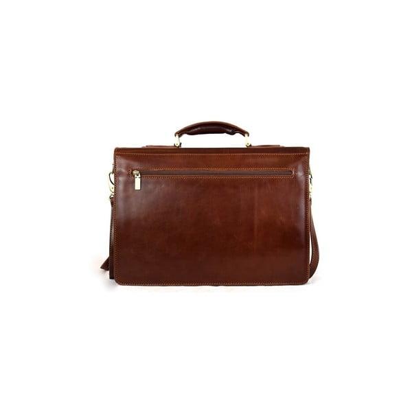 Kožená taška Santo Croce VL8215 Brown
